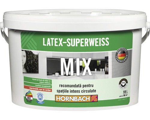 Vopsea pe baza de latex Latex Superweiss (baza A) in nuanta dorita 10 l