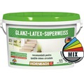 Vopsea pe baza de latex Glanzlatex Superweiss (baza C) in nuanta doita 2,5 l