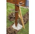 Suport stalp tip H 91x300x600 mm, zincat, fixare in beton
