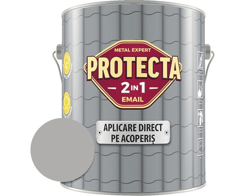 Email alchidic Protecta 2 in 1 - Aplicare direct pe acoperis, gri, 4 l
