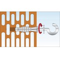 Dibluri plastic cu carlig rotund alb Tox Pirat Will 8x51 mm, pachet 2 bucati