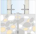 Dibluri plastic cu surub cui percutie Tox Attack Metal 6x55 mm, 50 bucati, pentru fixat profile metalice gipscarton