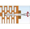 Dibluri plastic fara surub Tox Tetrafix 6x65 mm, 50 bucati, pentru rame/tocuri