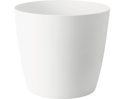 Ghiveci Ella cu sistem de irigare, plastic, Ø 35 cm, h 30 cm, alb mat, include indicator al nivelului de apa