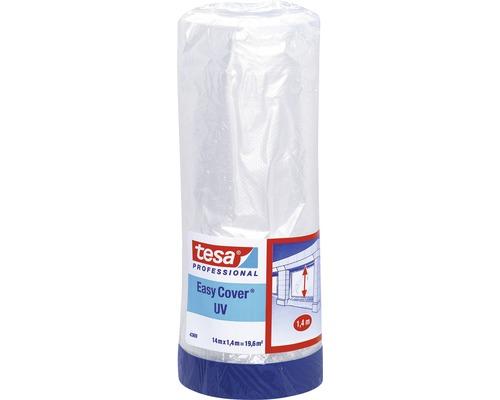 Folie de mascare cu banda textila pentru exterior tesa® Easy Cover UV 14x1,4 m 19,6 m²