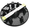 Ghiveci Ella cu sistem de irigare, plastic, Ø 35 cm, antracit mat, include indicator al nivelului de apa