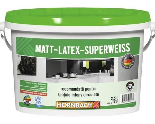 Vopsea pe baza de latex cu aspect matasos Matt-Latex-Superweiss alba 2,5 l