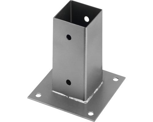 Suport stâlp aplicat 71x71x150 mm, oțel inoxidabil, fixare în șuruburi
