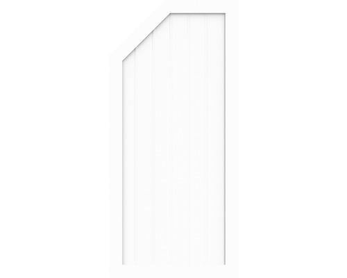 Element de extremitate BasicLine tip L stanga 90 x 150/120 cm, alb