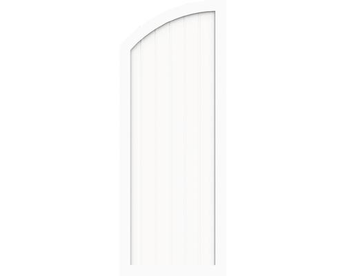 Element de extremitate BasicLine tip H stanga 90 x 180/150 cm, alb