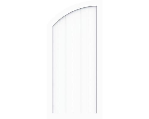 Element de extremitate BasicLine tip Q stanga 90 x 150/120 cm, alb