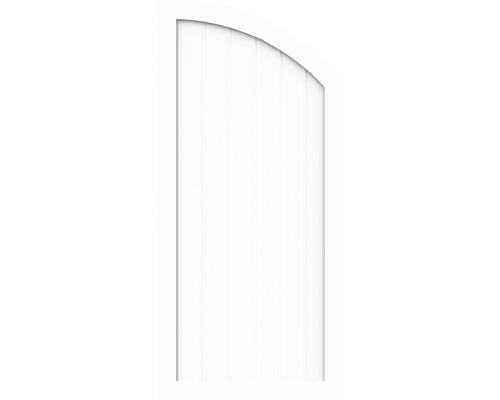 Element de extremitate BasicLine tip Q dreapta 90 x 150/120 cm, alb