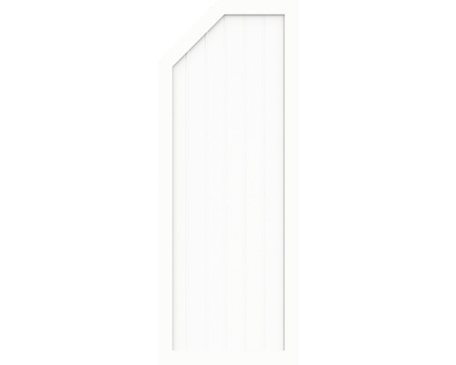 Element de extremitate BasicLine tip E stanga 90 x 180/150 cm, alb