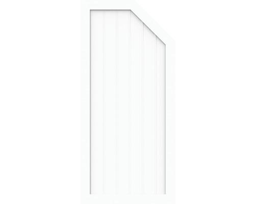 Element de extremitate BasicLine tip L dreapta 90 x 150/120 cm, alb