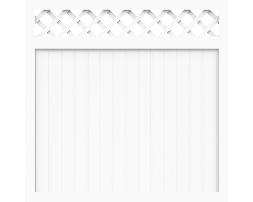Element principal BasicLine tip O 180 x 150 cm, alb