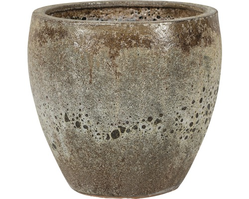 Ghiveci plante 'Melbourne', ceramica, Ø 27 cm, h 26 cm maro antichizat