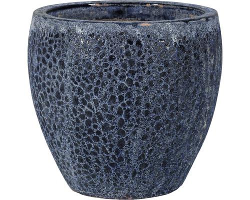 Ghiveci plante 'Melbourne', ceramica, Ø 27 cm, h 26 cm albastru antichizat