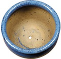 Ghiveci Bavaria, argila, Ø 25 cm, albastru