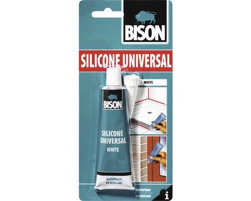Silicon universal Bison alb 60 ml