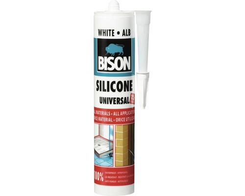 Silicon universal Bison alb 280 ml
