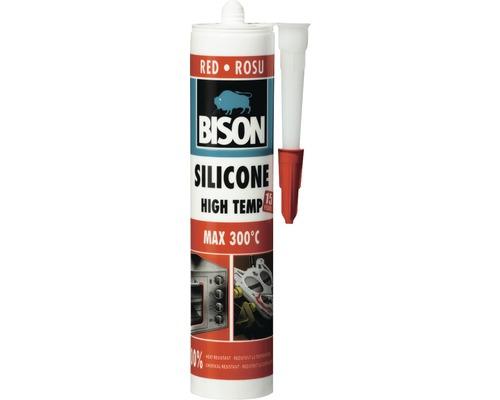 Etanseizant siliconic rezistent la temperaturi ridicate Bison rosu 280 ml