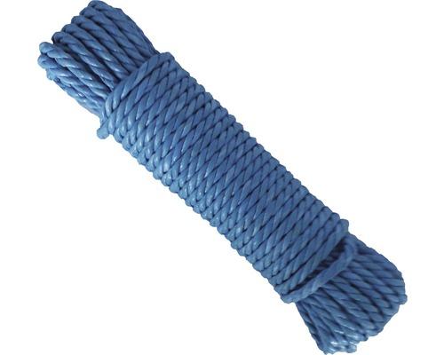 Sfoara polipropilena rasucita Coretech Ø8mm x 20m, culoare albastra
