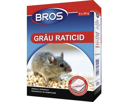 Grau raticid Bros, 120 g, 6 buc x 20 g