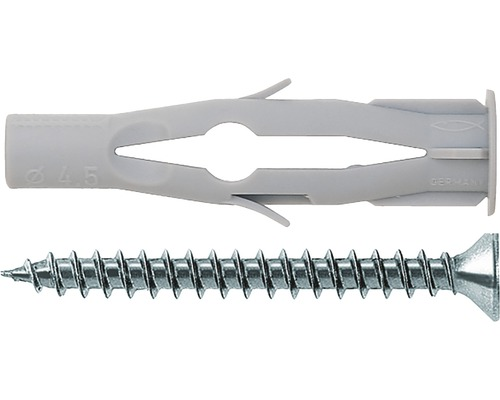 Dibluri plastic cu șurub Fischer FU 10x60 mm, pachet 4 bucăți