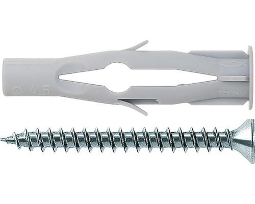 Dibluri plastic cu surub Fischer FU 6x35 mm, pachet 10 bucati