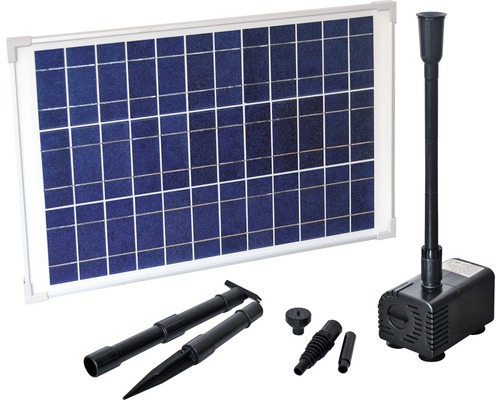 Set pompă solară Heissner, 7,5 W, 1300 l/h