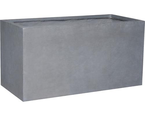 Jardiniera Lafiora Emil, piatra artificiala, 79 x 37,5 x 40 cm, gri inchis