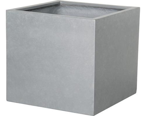 Ghiveci Lafiora Emil, piatra artificiala, 44 x 44 x 42 cm, gri deschis