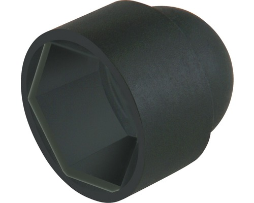 Capace mascare suruburi cu cap hexagonal marimea M10, plastic negru, 10 bucati