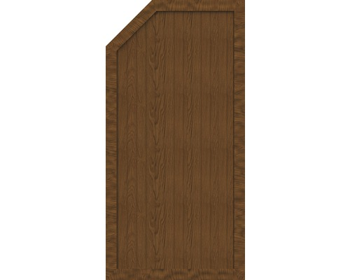 Element de extremitate BasicLine tip E stanga 90 x 180/150 cm, Golden Oak