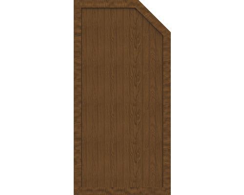 Element de extremitate BasicLine tip E dreapta 90 x 180/150 cm, Golden Oak