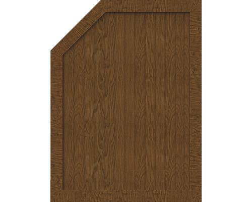 Element de extremitate BasicLine tip M stanga 90 x 120/90 cm, Golden Oak