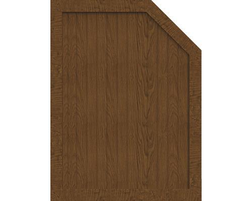 Element de extremitate BasicLine tip M dreapta 90 x 120/90 cm, Golden Oak