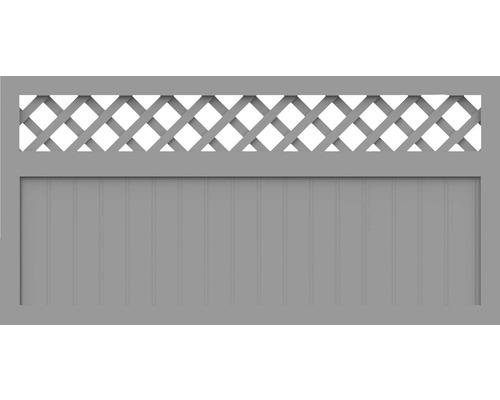 Element principal BasicLine tip K 180 x 90 cm, gri argintiu