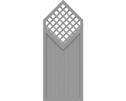 Element parțial BasicLine tip D 90 x 225/180 cm, gri argintiu