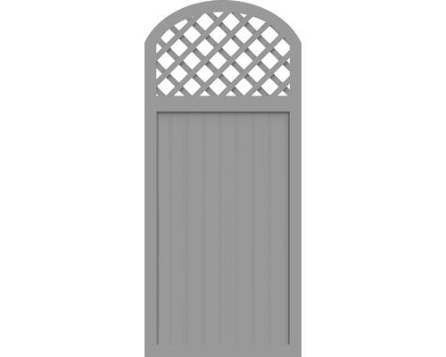 Element partial BasicLine tip Y 90 x 205/180 cm, gri argintiu