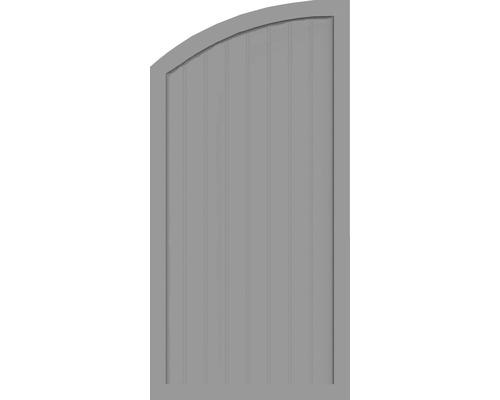 Element de extremitate BasicLine tip H stanga 90 x 180/150 cm, gri argintiu