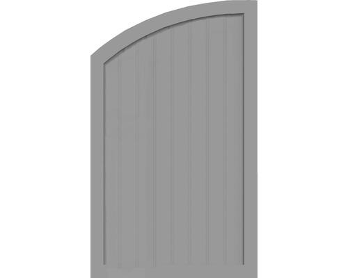 Element de extremitate BasicLine tip Q stanga 90 x 150/120 cm, gri argintiu