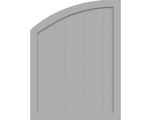 Element de extremitate BasicLine tip R stanga 90 x 120/90 cm, gri argintiu