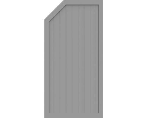 Element de extremitate BasicLine tip E stânga 90 x 180/150 cm, gri argintiu
