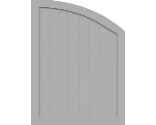 Element de extremitate BasicLine tip R dreapta 90 x 120/90 cm, gri argintiu
