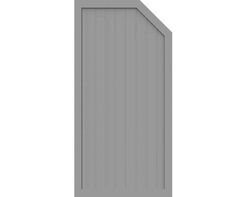 Element de extremitate BasicLine tip E dreapta 90 x 180/150 cm, gri argintiu