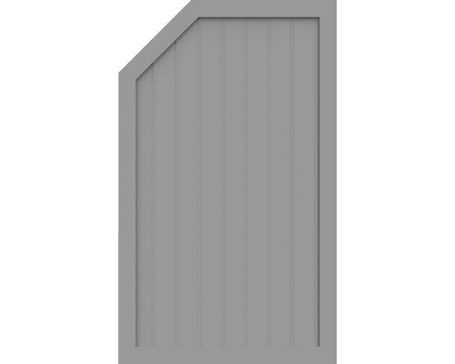 Element de extremitate BasicLine tip L stanga 90 x 150/120 cm, gri argintiu