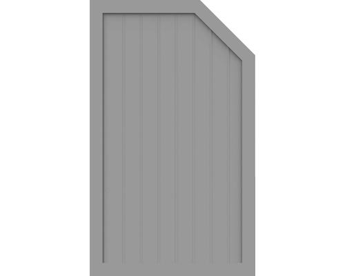 Element de extremitate BasicLine tip L dreapta 90 x 150/120 cm, gri argintiu