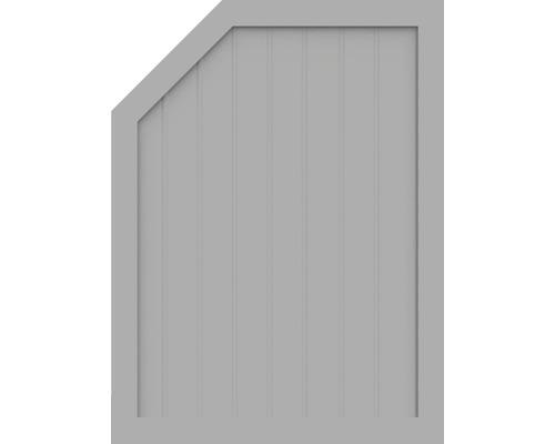 Element de extremitate BasicLine tip M stânga 90 x 120/90 cm, gri argintiu
