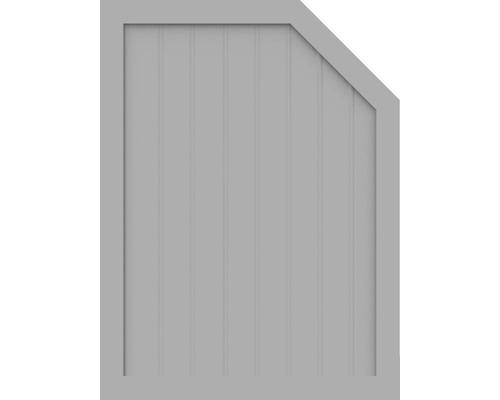 Element de extremitate BasicLine tip M dreapta 90 x 120/90 cm, gri argintiu